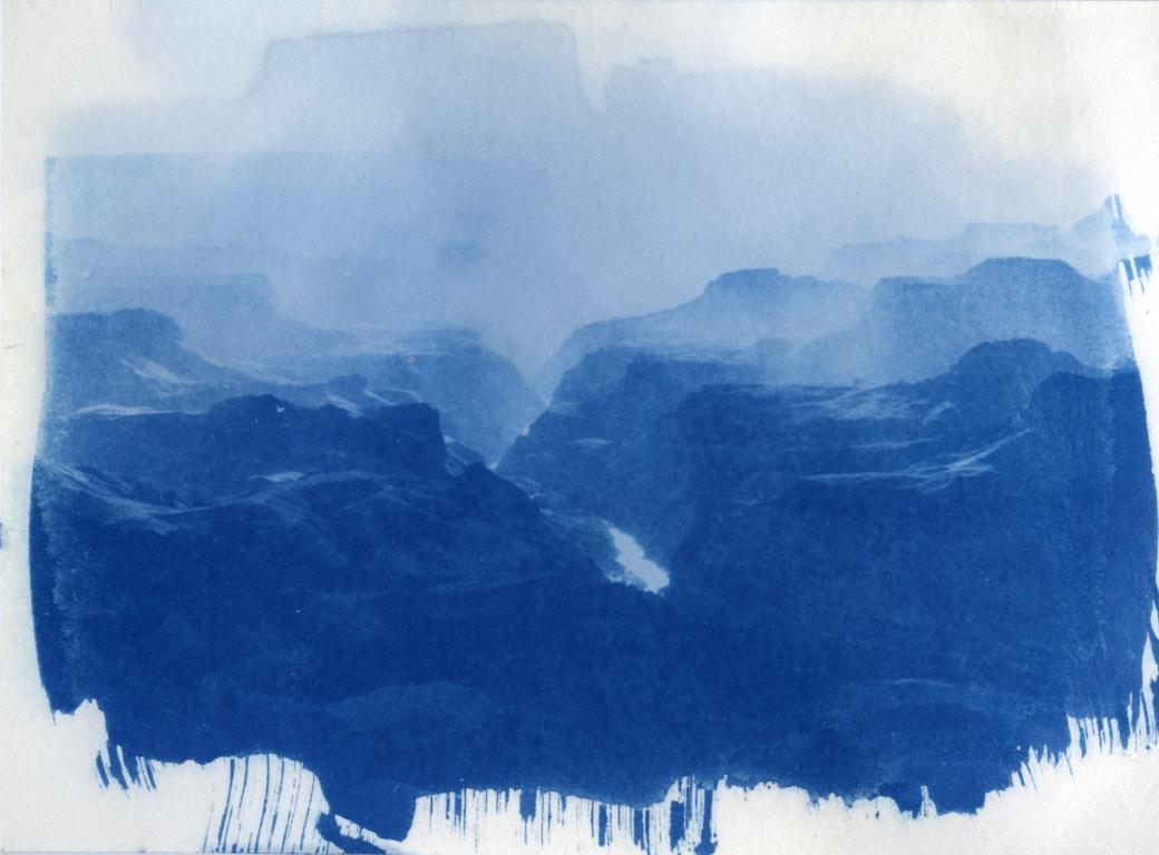 Grand Canyon cyanotype original